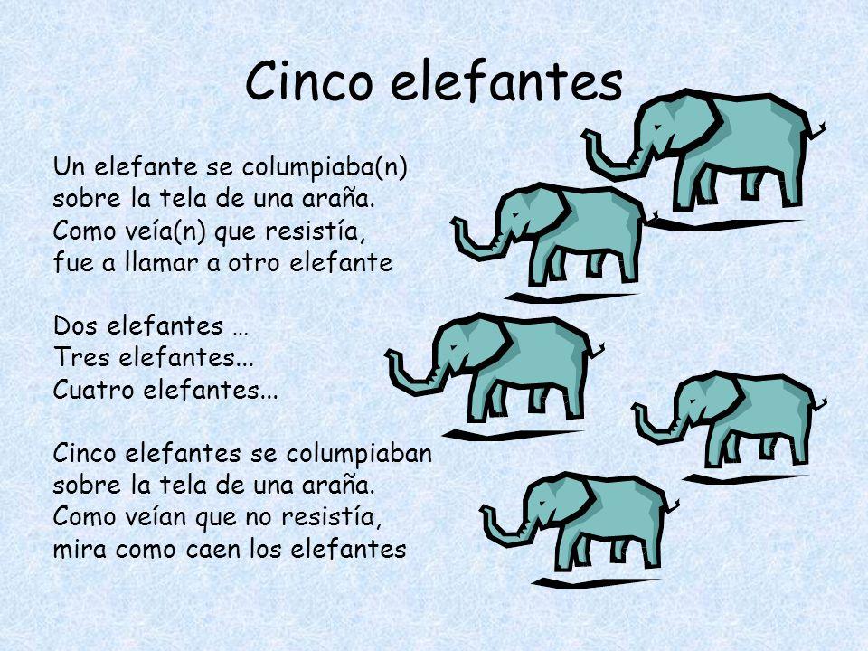 Cinco elefantes Un elefante se columpiaba(n)