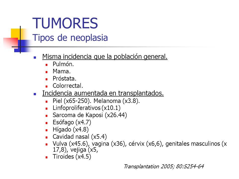 TUMORES Tipos de neoplasia