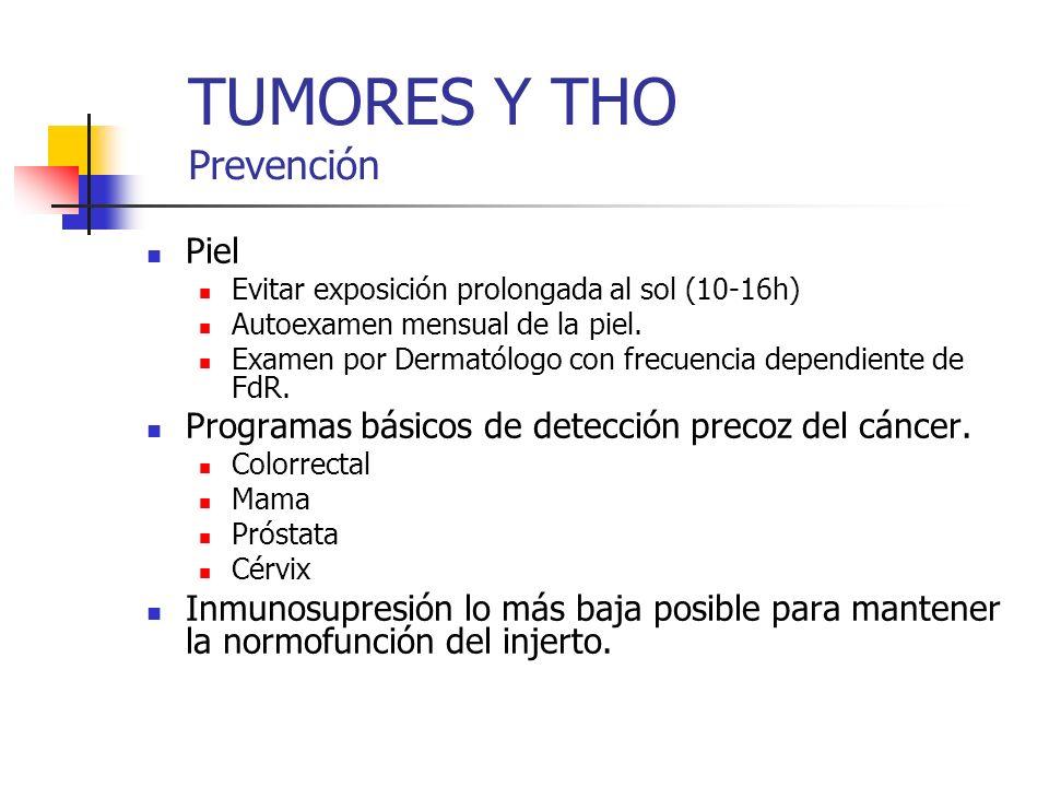 TUMORES Y THO Prevención