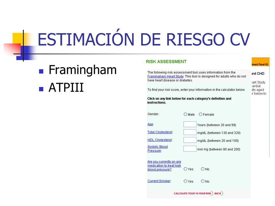ESTIMACIÓN DE RIESGO CV