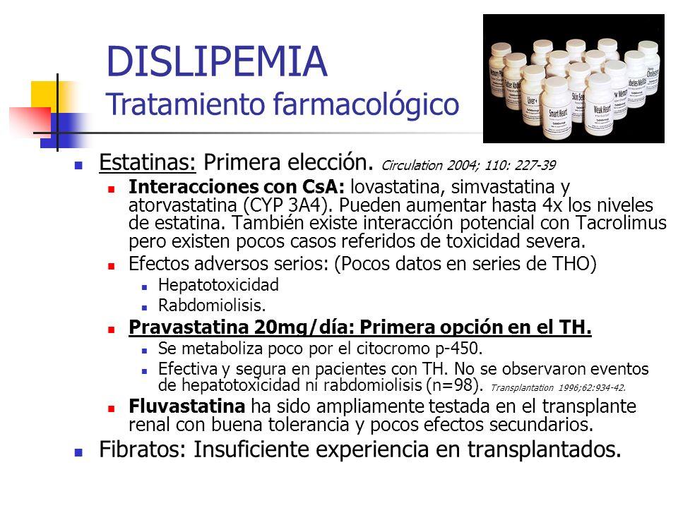 DISLIPEMIA Tratamiento farmacológico