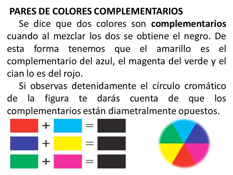 PARES DE COLORES COMPLEMENTARIOS