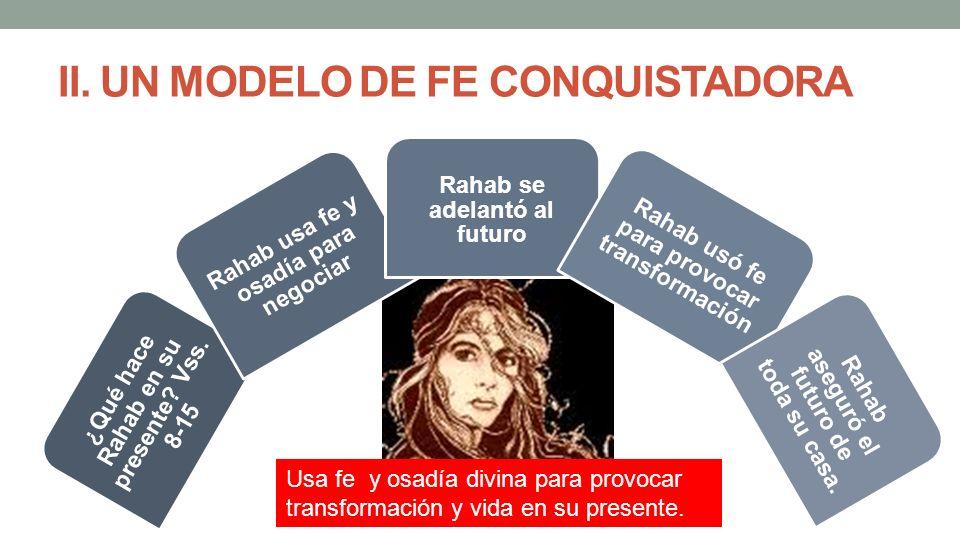 II. UN MODELO DE FE CONQUISTADORA