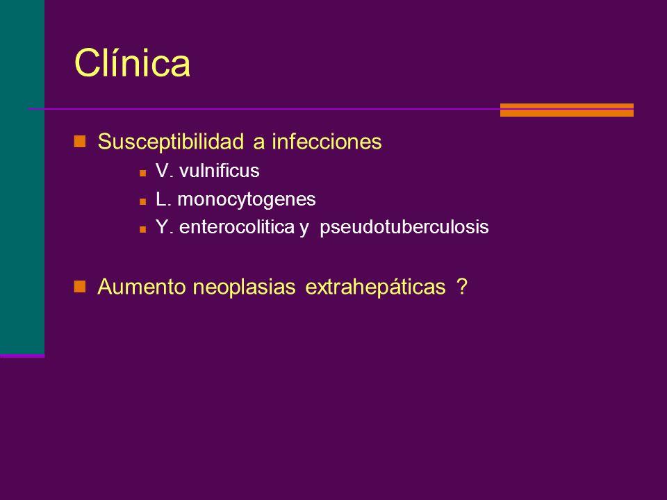 Clínica Susceptibilidad a infecciones