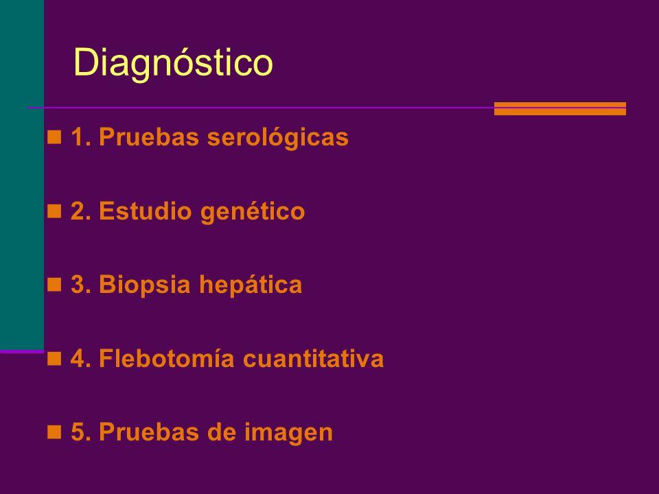 Diagnóstico 1. Pruebas serológicas 2. Estudio genético