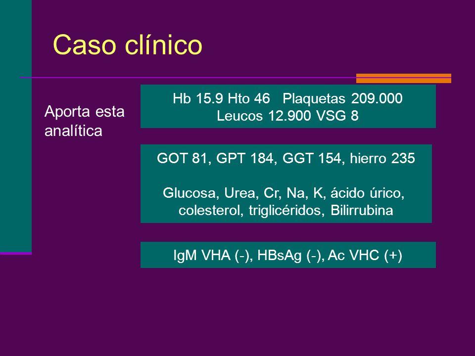 Caso clínico Aporta esta analítica Hb 15.9 Hto 46 Plaquetas 209.000
