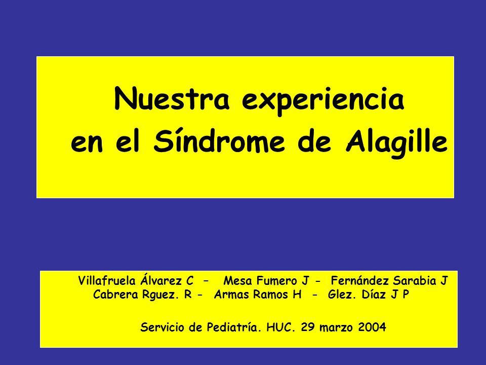 Nuestra experiencia en el Síndrome de Alagille