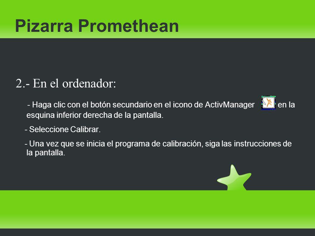 Pizarra Promethean 2.- En el ordenador:
