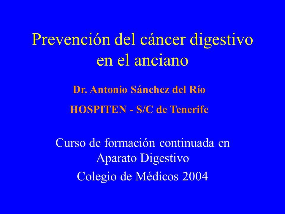 Prevención del cáncer digestivo en el anciano