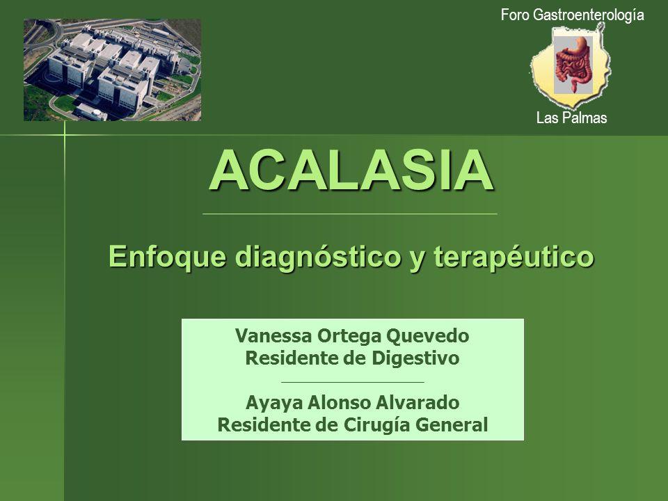 ACALASIA Enfoque diagnóstico y terapéutico