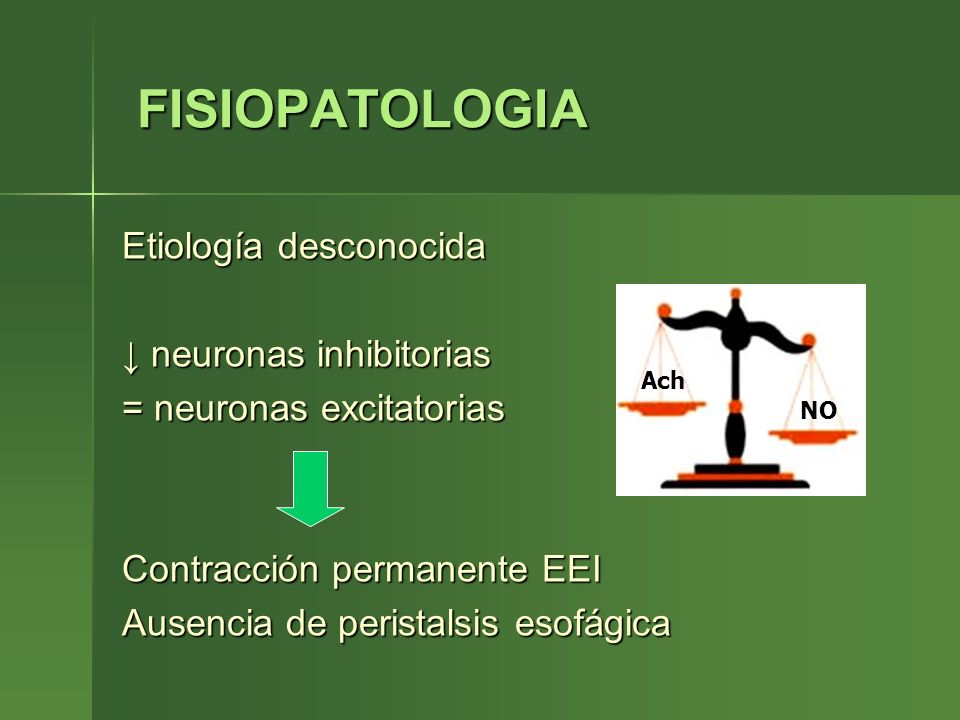 FISIOPATOLOGIA Etiología desconocida ↓ neuronas inhibitorias