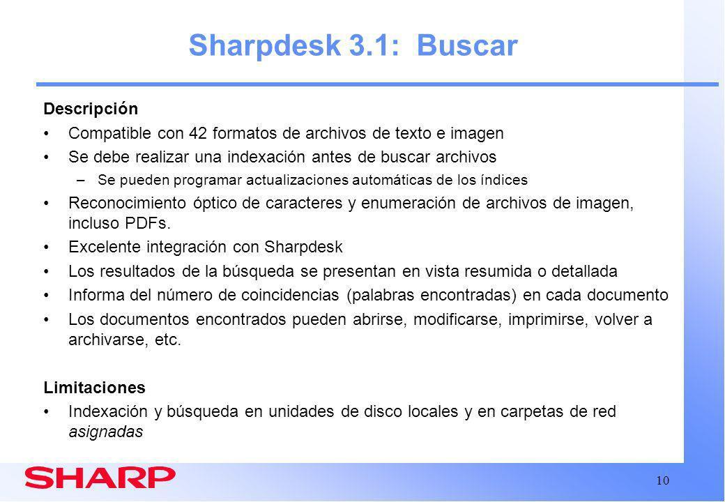 Sharpdesk 3.1: Buscar Descripción