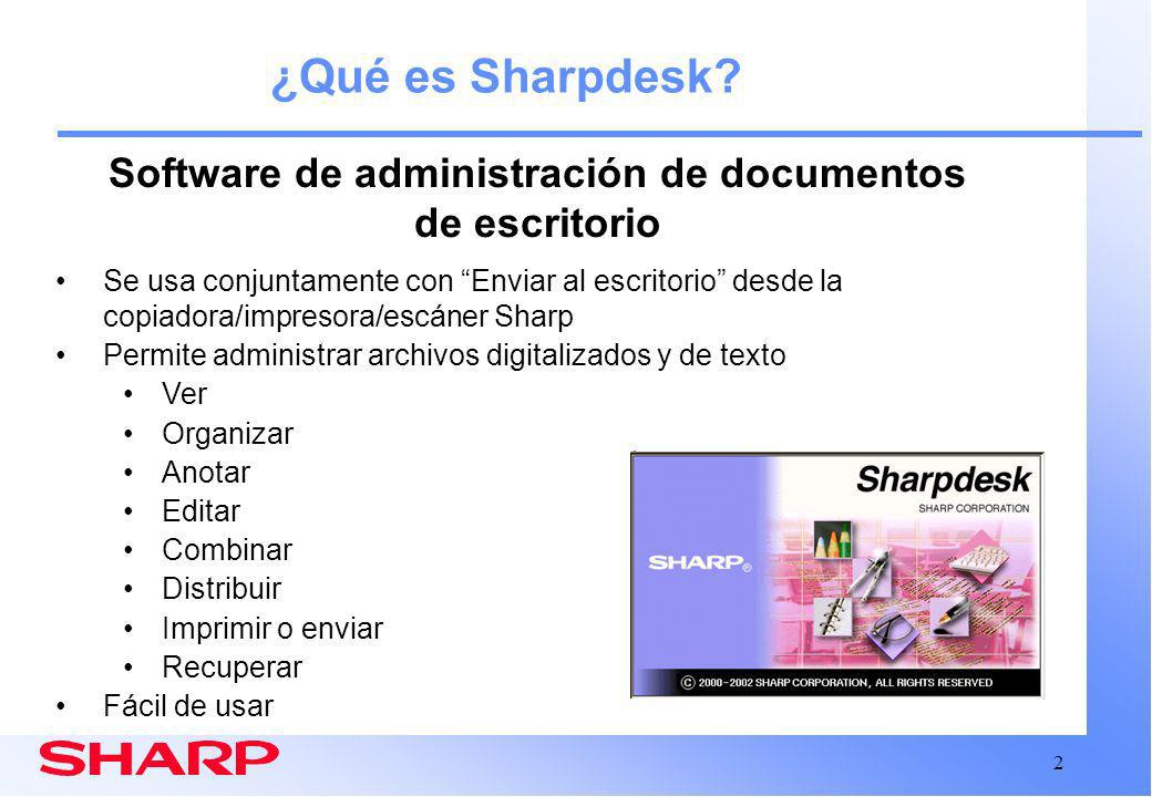 Software de administración de documentos de escritorio