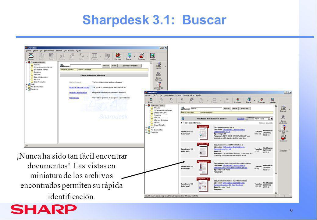 Sharpdesk 3.1: Buscar