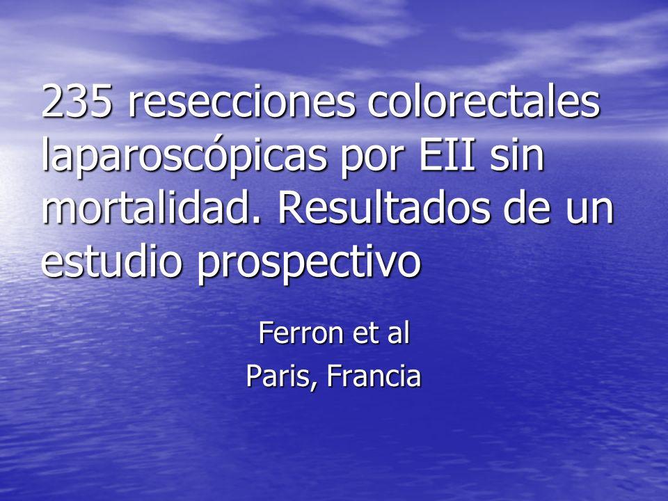 235 resecciones colorectales laparoscópicas por EII sin mortalidad
