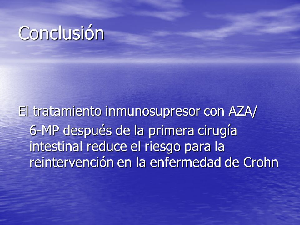 Conclusión El tratamiento inmunosupresor con AZA/