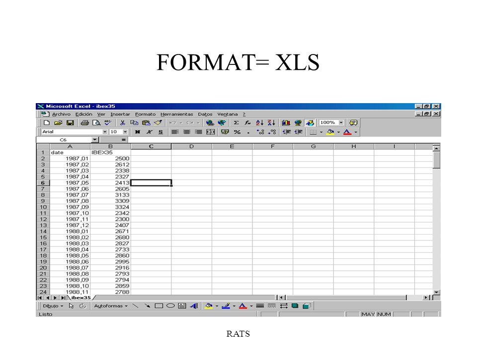 FORMAT= XLS RATS
