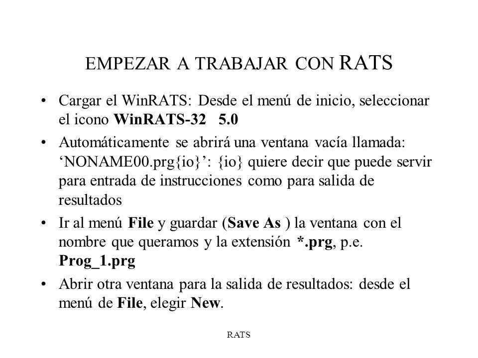 EMPEZAR A TRABAJAR CON RATS