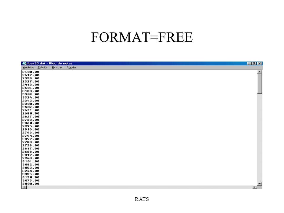 FORMAT=FREE RATS
