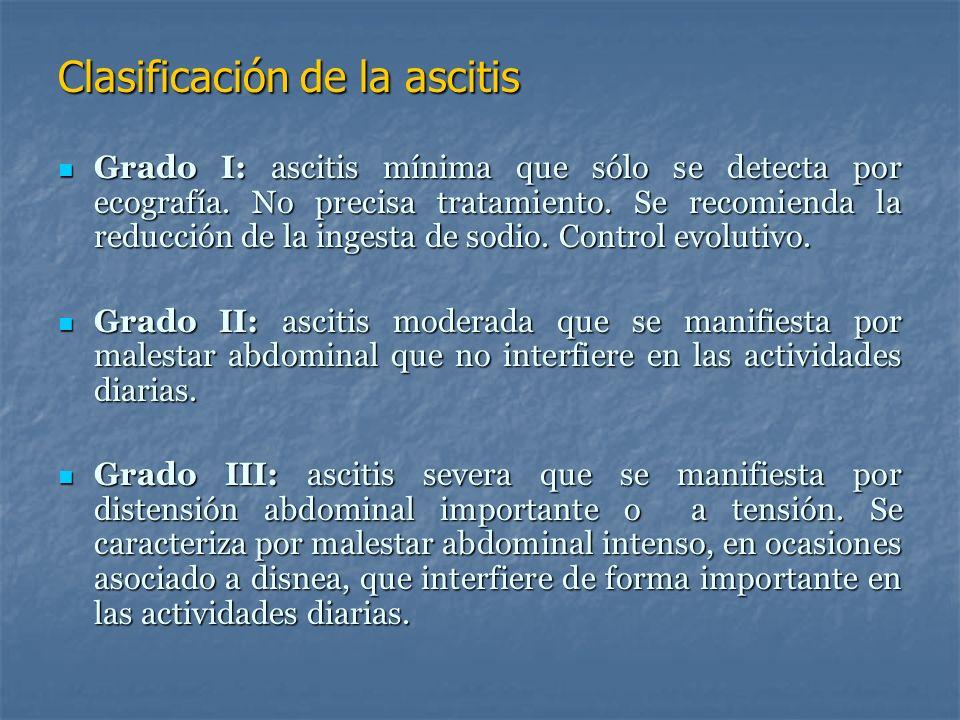Clasificación de la ascitis
