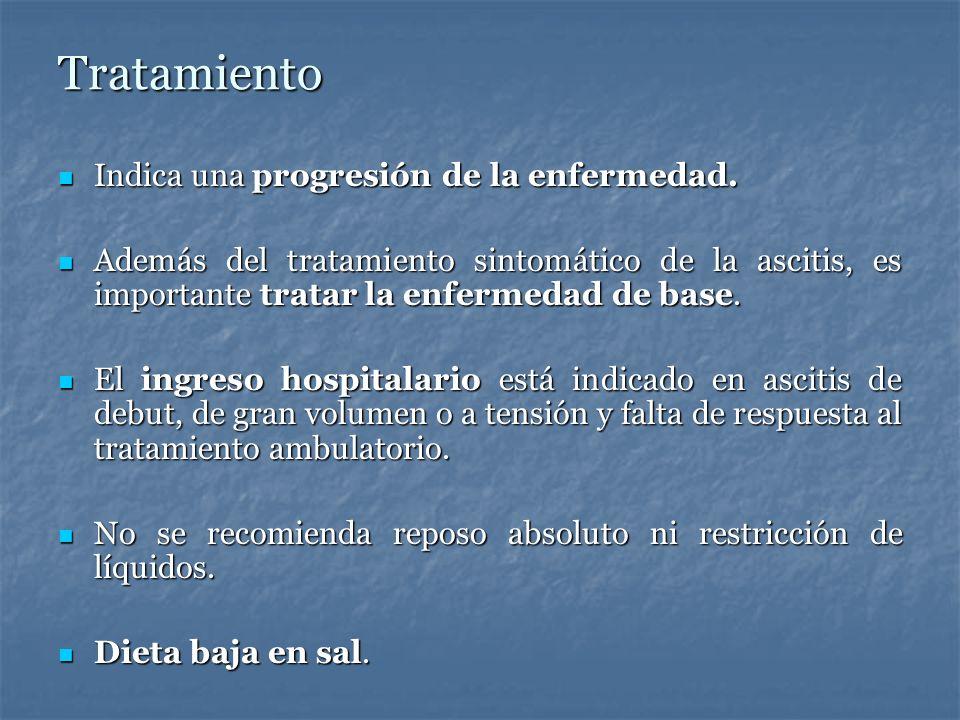 Tratamiento Indica una progresión de la enfermedad.