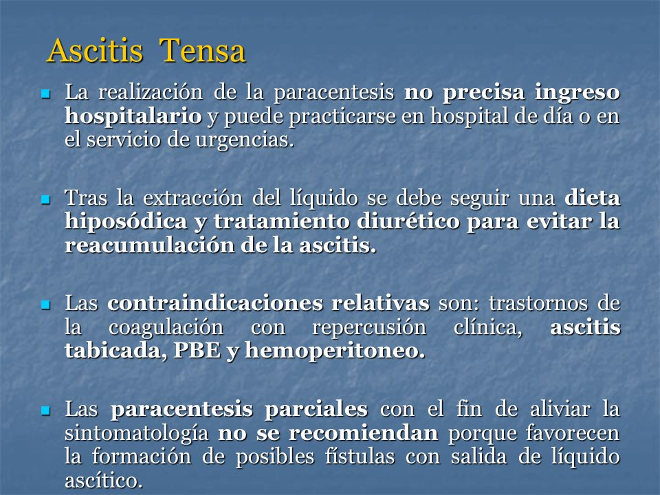Ascitis Tensa