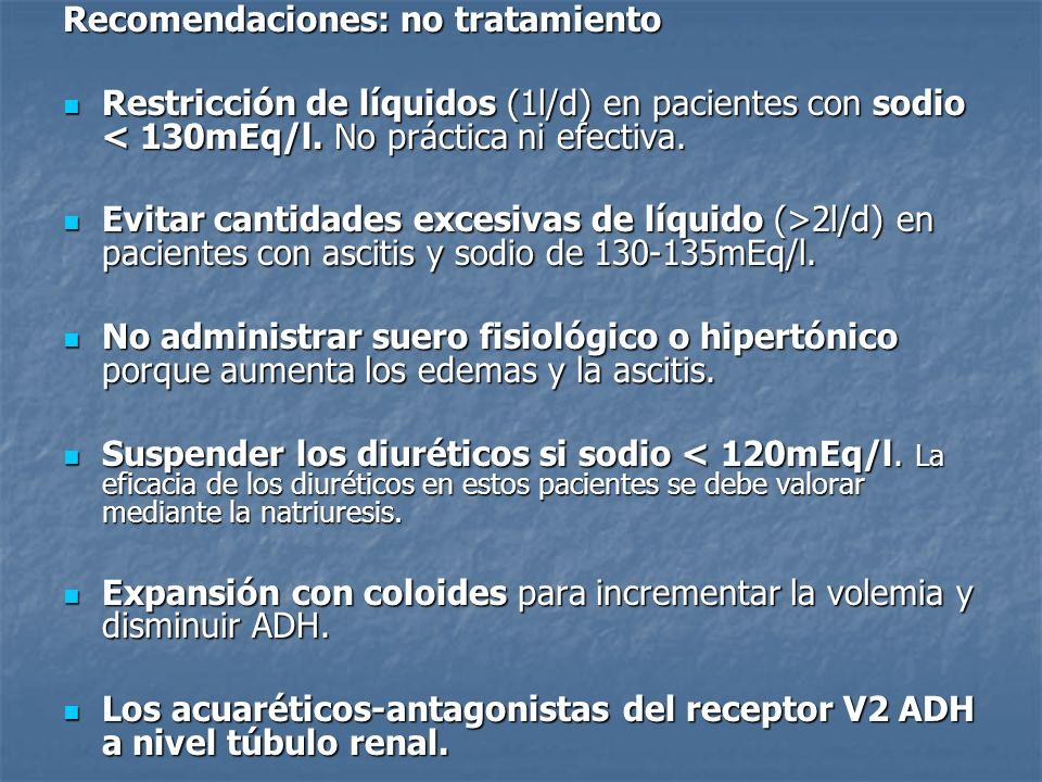 Recomendaciones: no tratamiento
