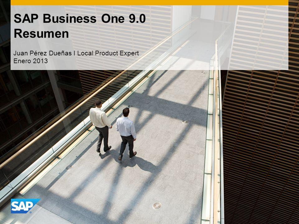 SAP Business One 9.0 Resumen