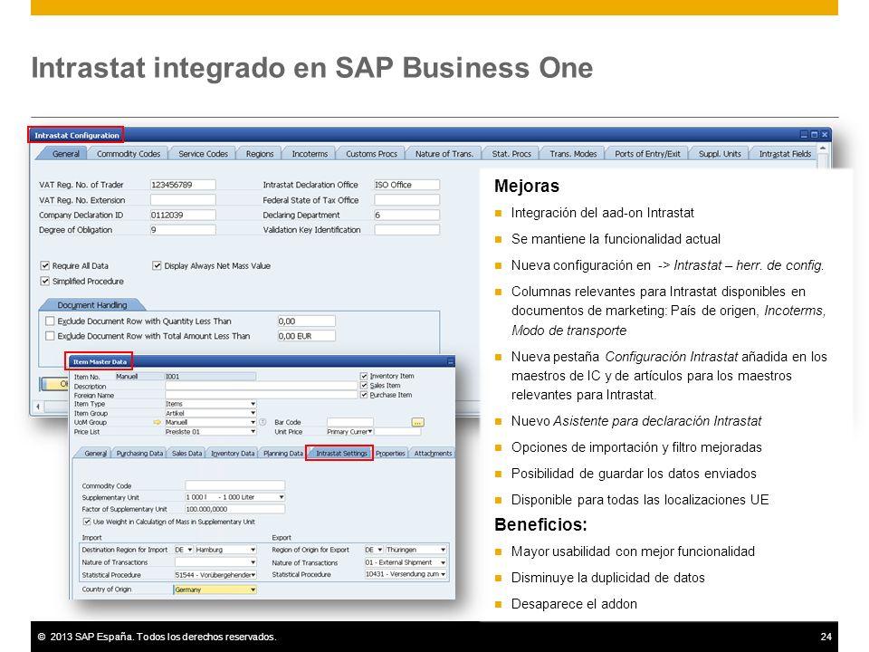 Intrastat integrado en SAP Business One