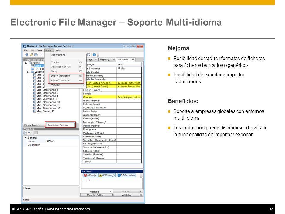 Electronic File Manager – Soporte Multi-idioma