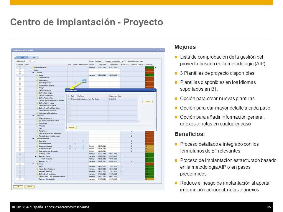 Centro de implantación - Proyecto