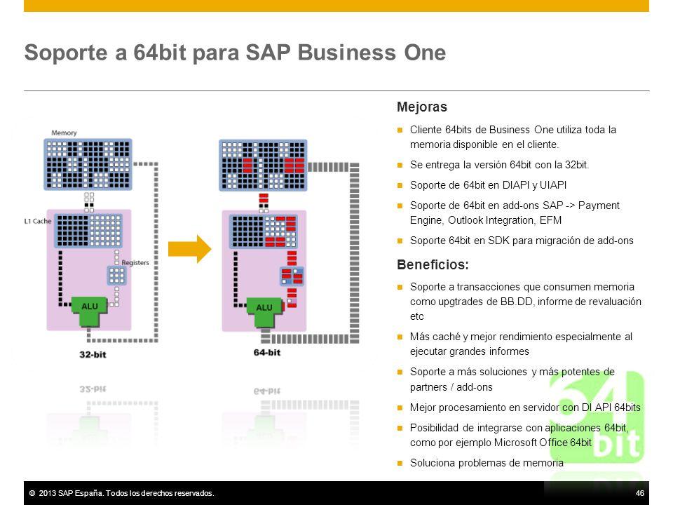Soporte a 64bit para SAP Business One