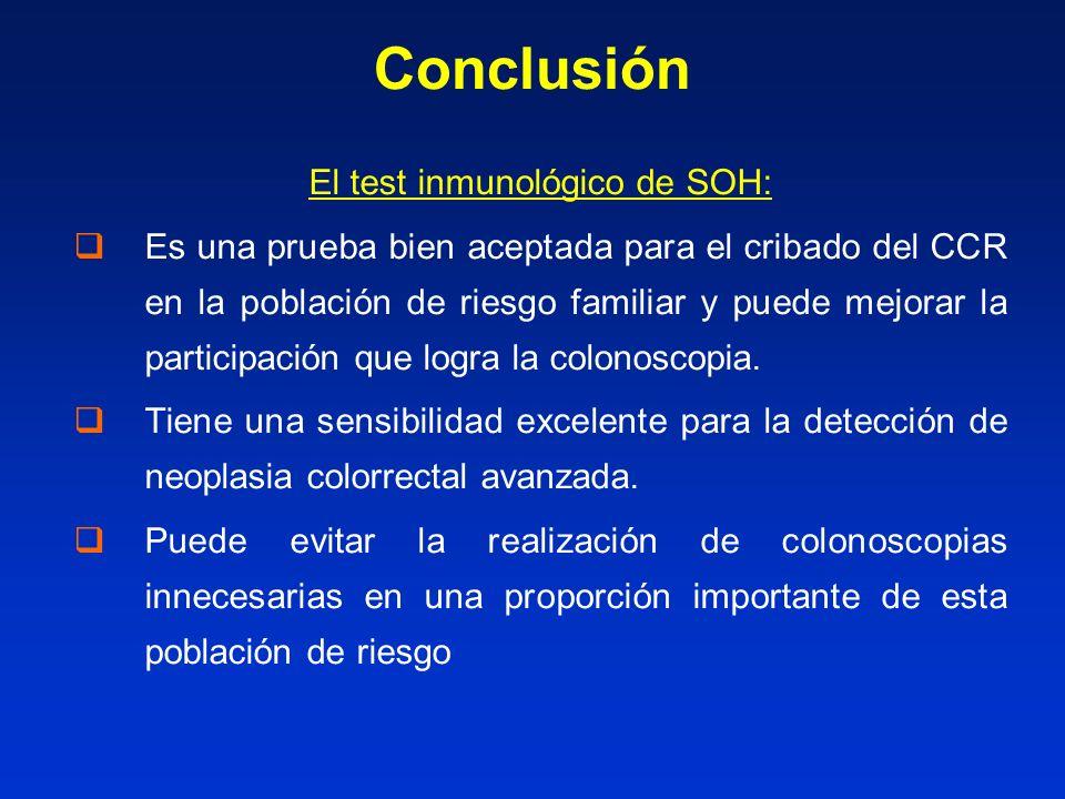 El test inmunológico de SOH: