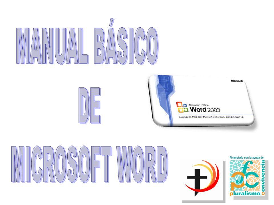MANUAL BÁSICO DE MICROSOFT WORD