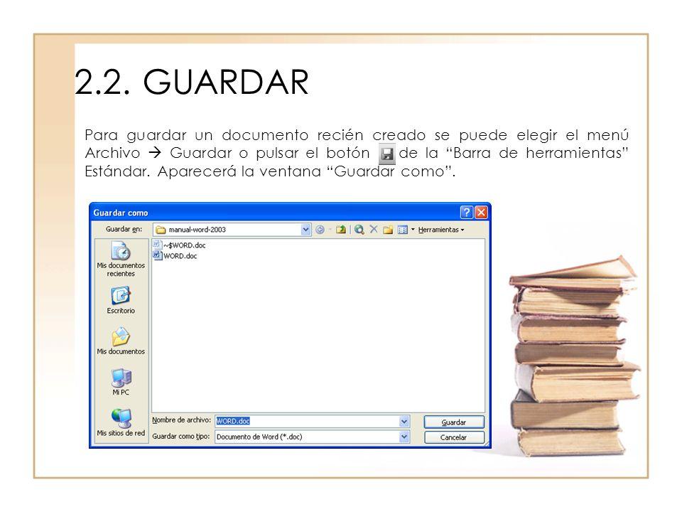 2.2. GUARDAR