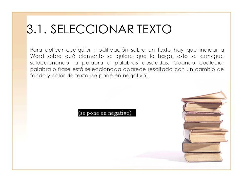 3.1. SELECCIONAR TEXTO