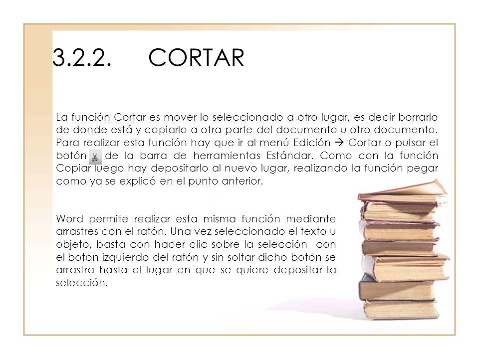 3.2.2. CORTAR