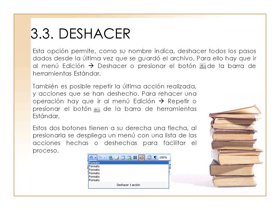 3.3. DESHACER