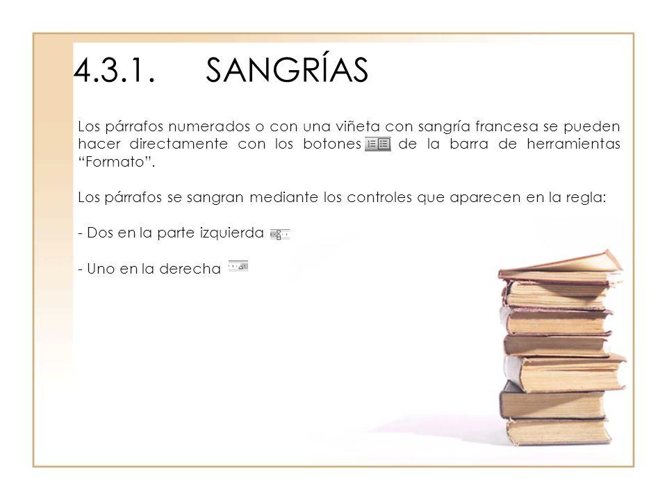 4.3.1. SANGRÍAS
