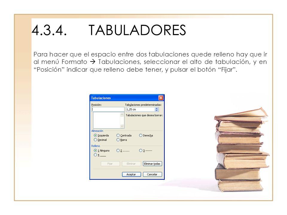4.3.4. TABULADORES