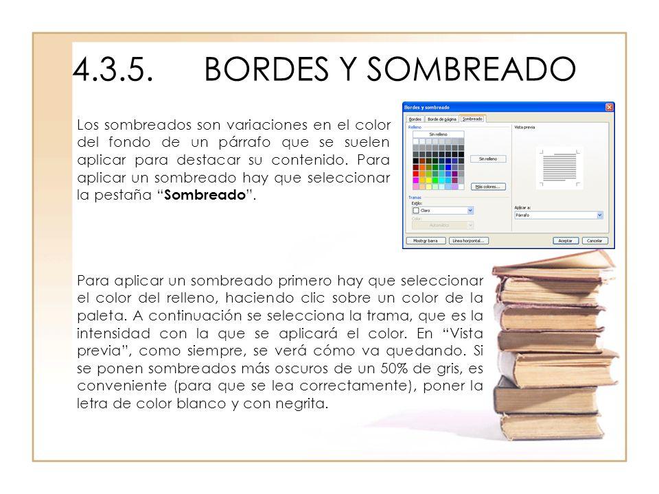 4.3.5. BORDES Y SOMBREADO