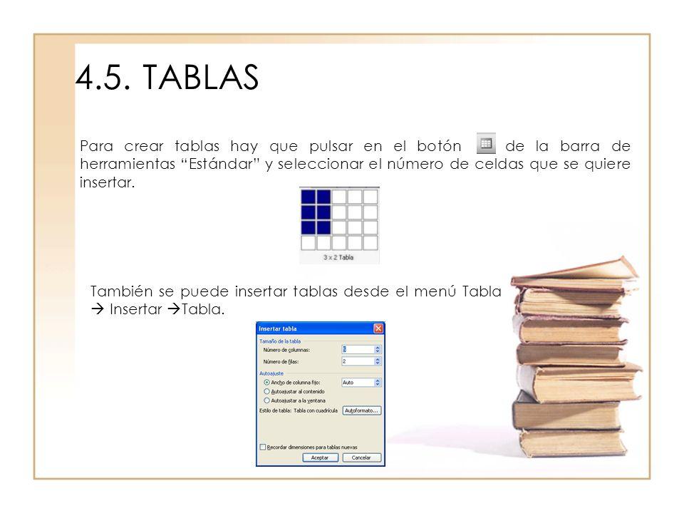 4.5. TABLAS
