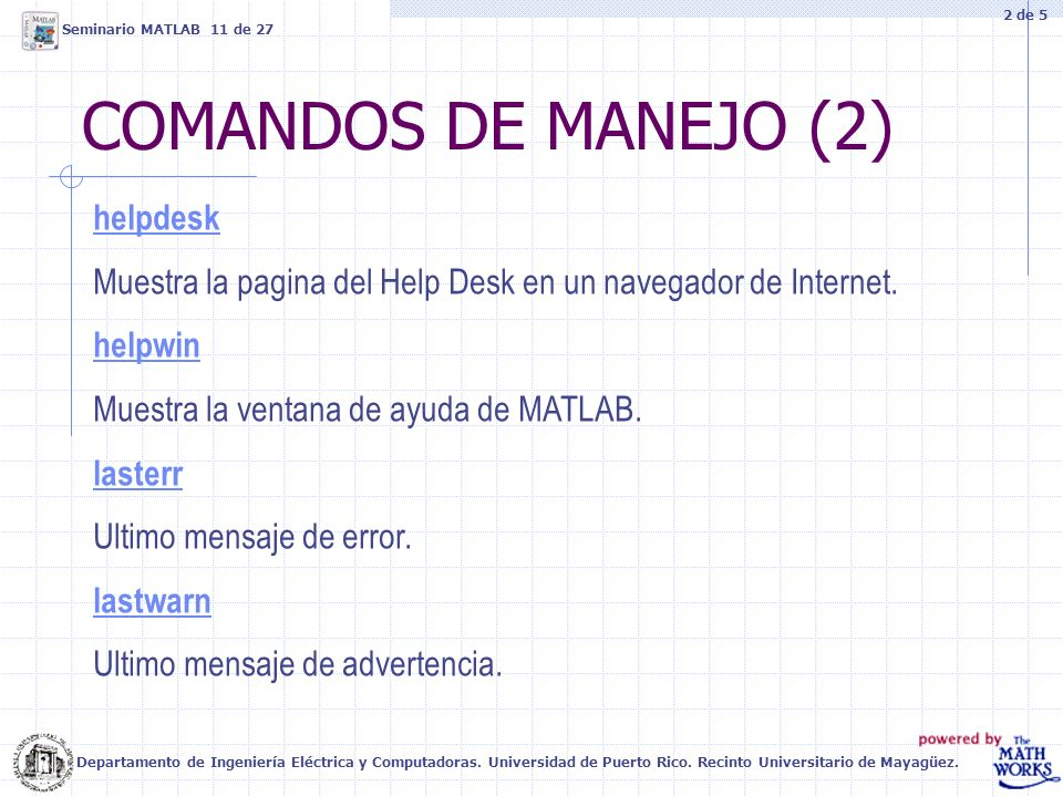 COMANDOS DE MANEJO (2) helpdesk