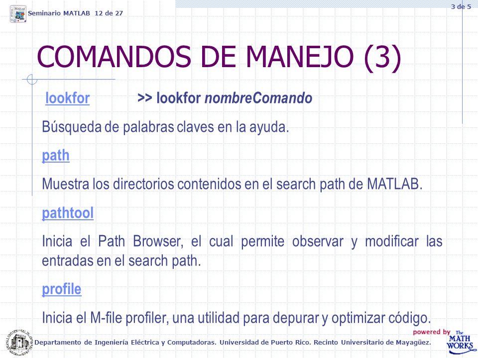 COMANDOS DE MANEJO (3) lookfor >> lookfor nombreComando