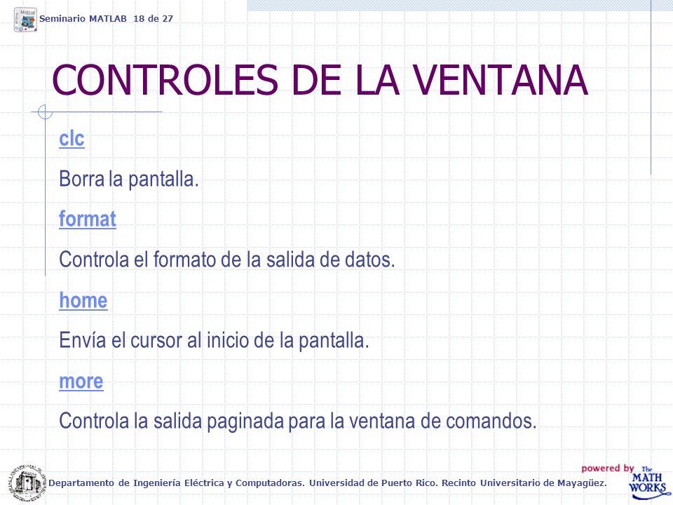 CONTROLES DE LA VENTANA