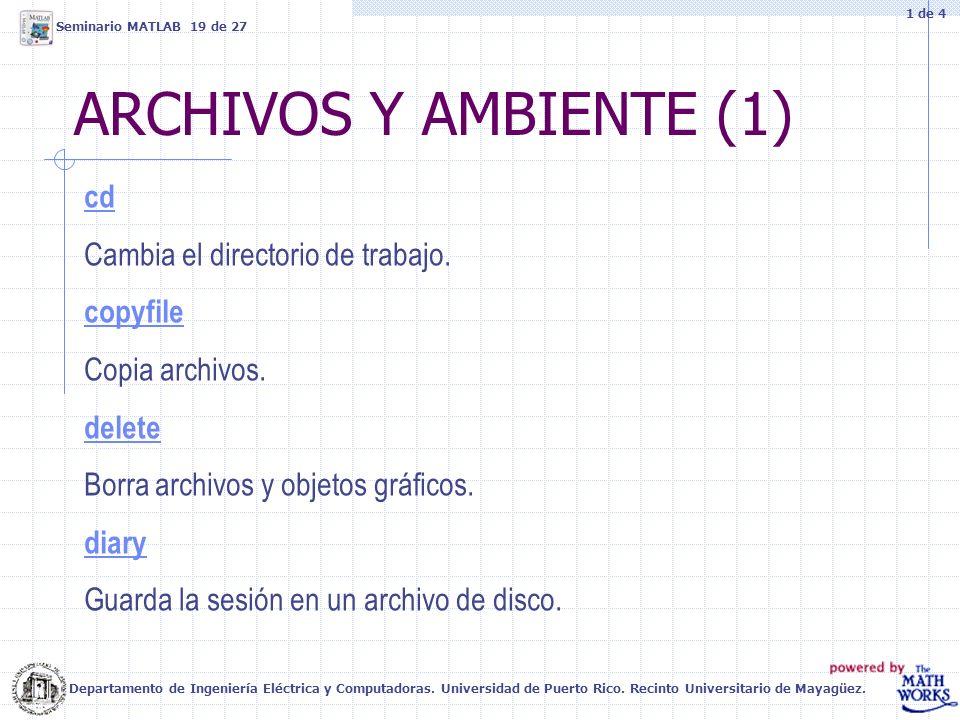 ARCHIVOS Y AMBIENTE (1) cd Cambia el directorio de trabajo. copyfile