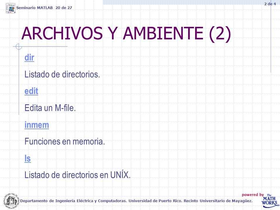 ARCHIVOS Y AMBIENTE (2) dir Listado de directorios. edit