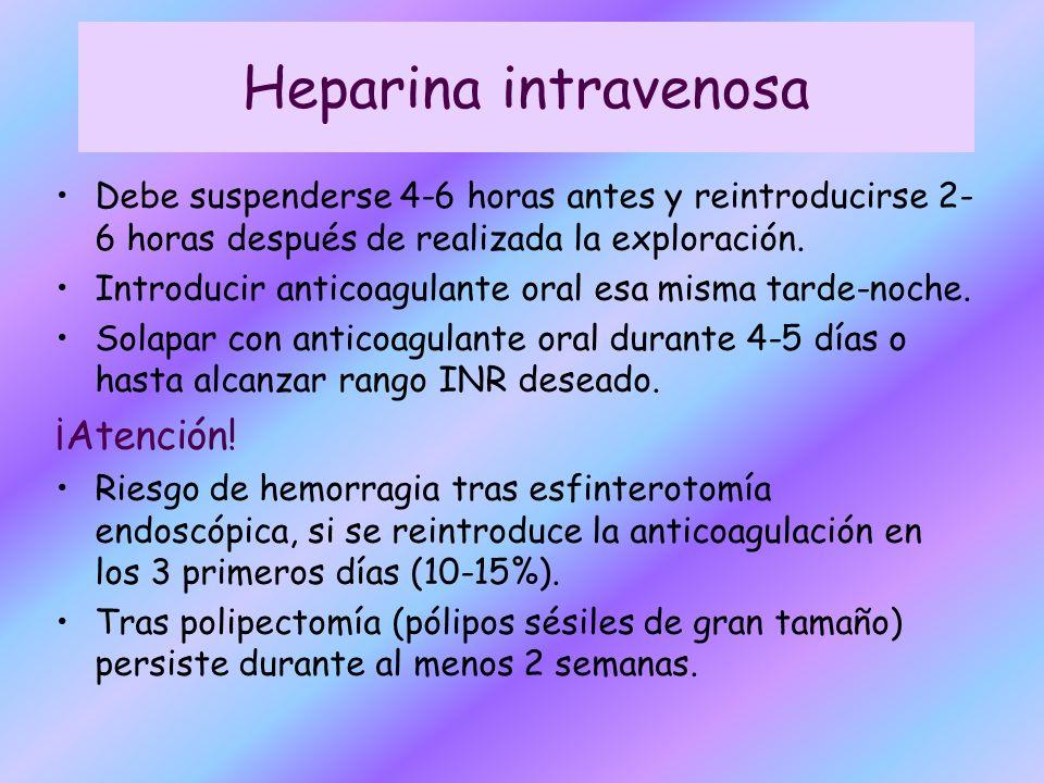 Heparina intravenosa ¡Atención!