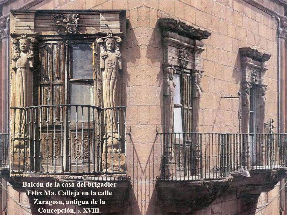 Balcón de la casa del brigadier Félix Ma