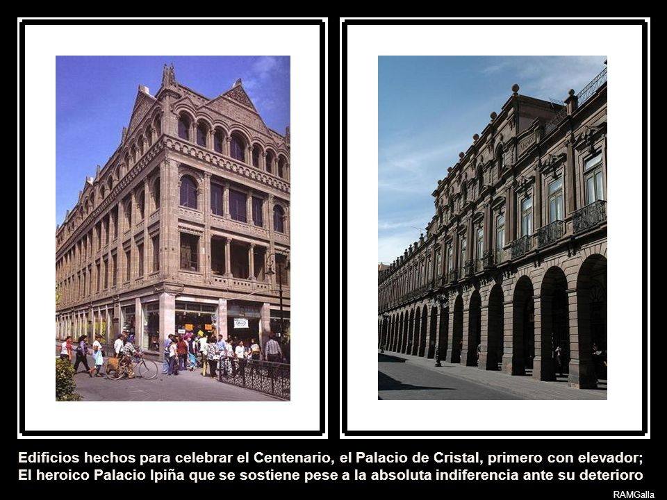 Edificios hechos para celebrar el Centenario, el Palacio de Cristal, primero con elevador;